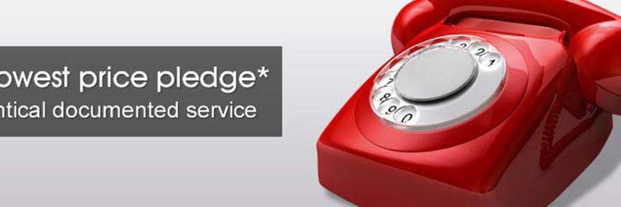 on hold message price pledge